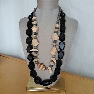 Accessories - Two wooden necklaces